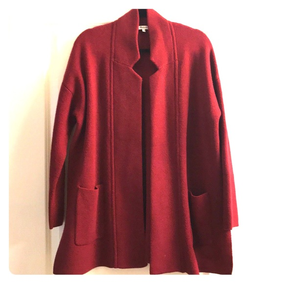 Madewell Sweaters Spencer Sweatercoat Heather Burgundy Poshmark